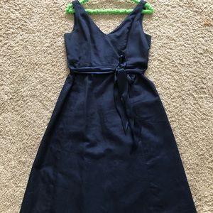 J crew Lyndsey navy dress size 8 with sash